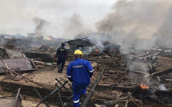 Explosion scene in Lagos