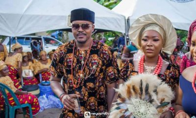 Excited groom shares photos of his wedding ceremony