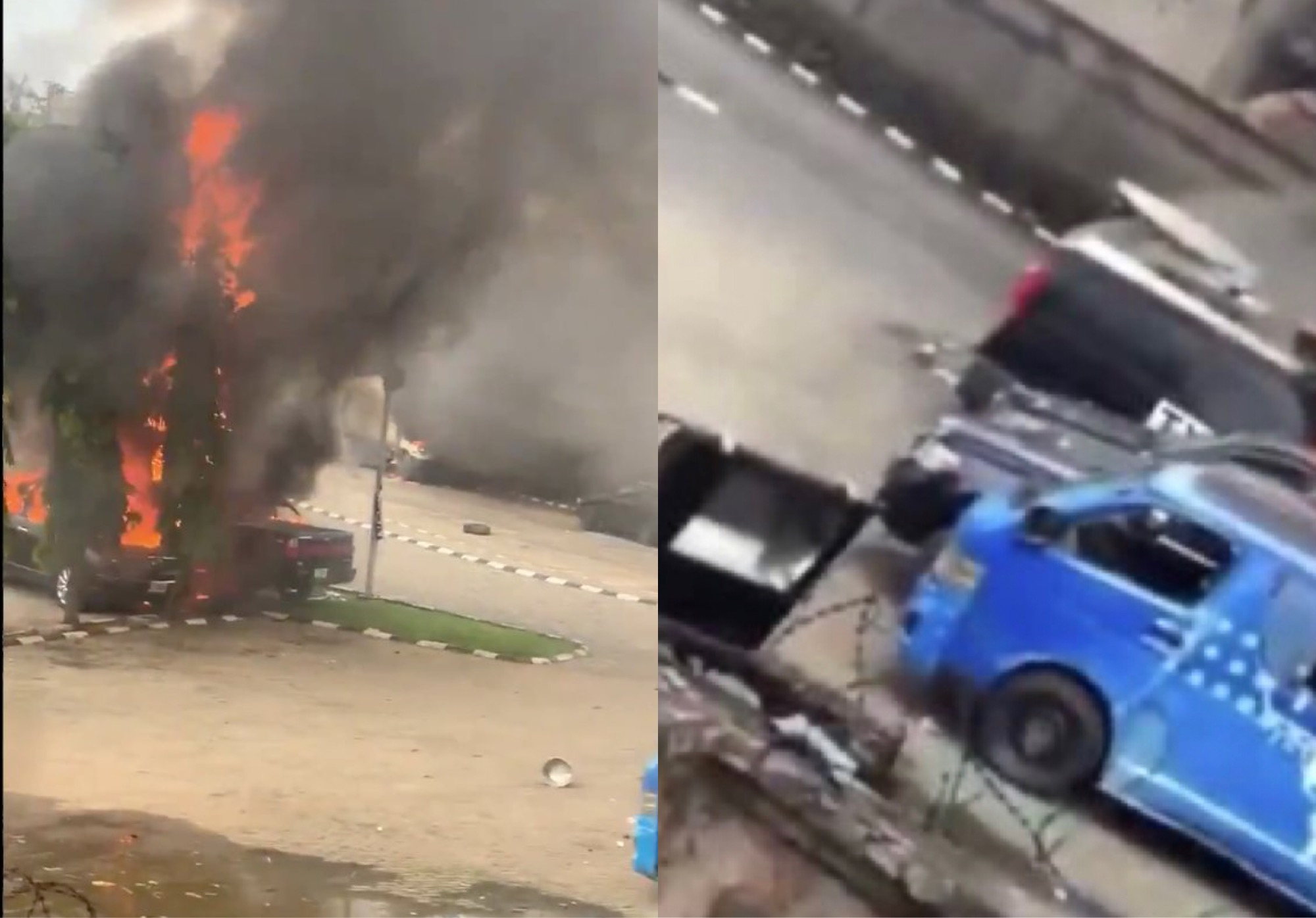 #LekkiMassacre: Hoodlums Storm TVC Station In Lagos; Set Properties On Fire (Video)