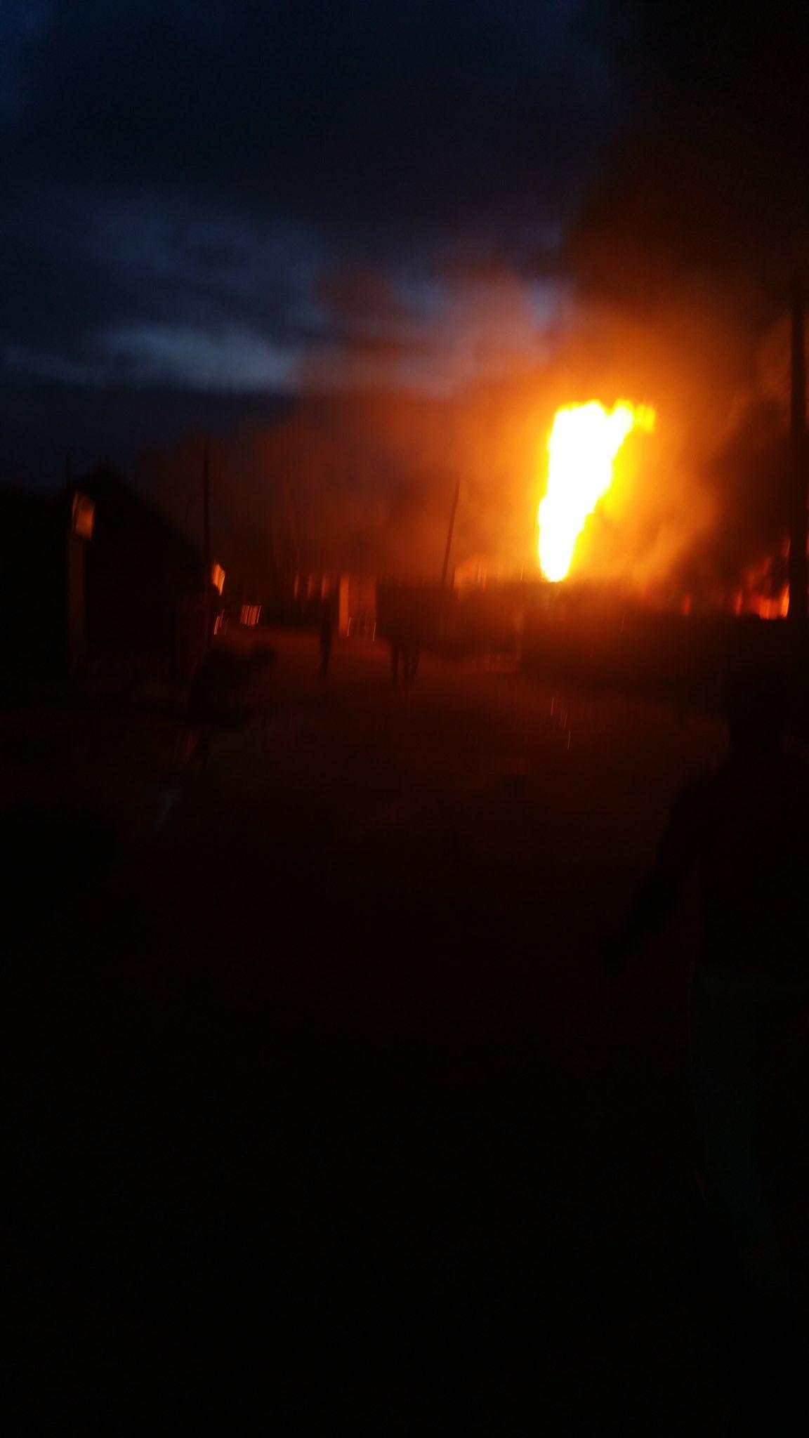 Fire outbreak in Ipaja