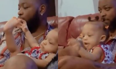 BBNaija's Teddy A Spotted Chilling With His Daughter, Zendaya