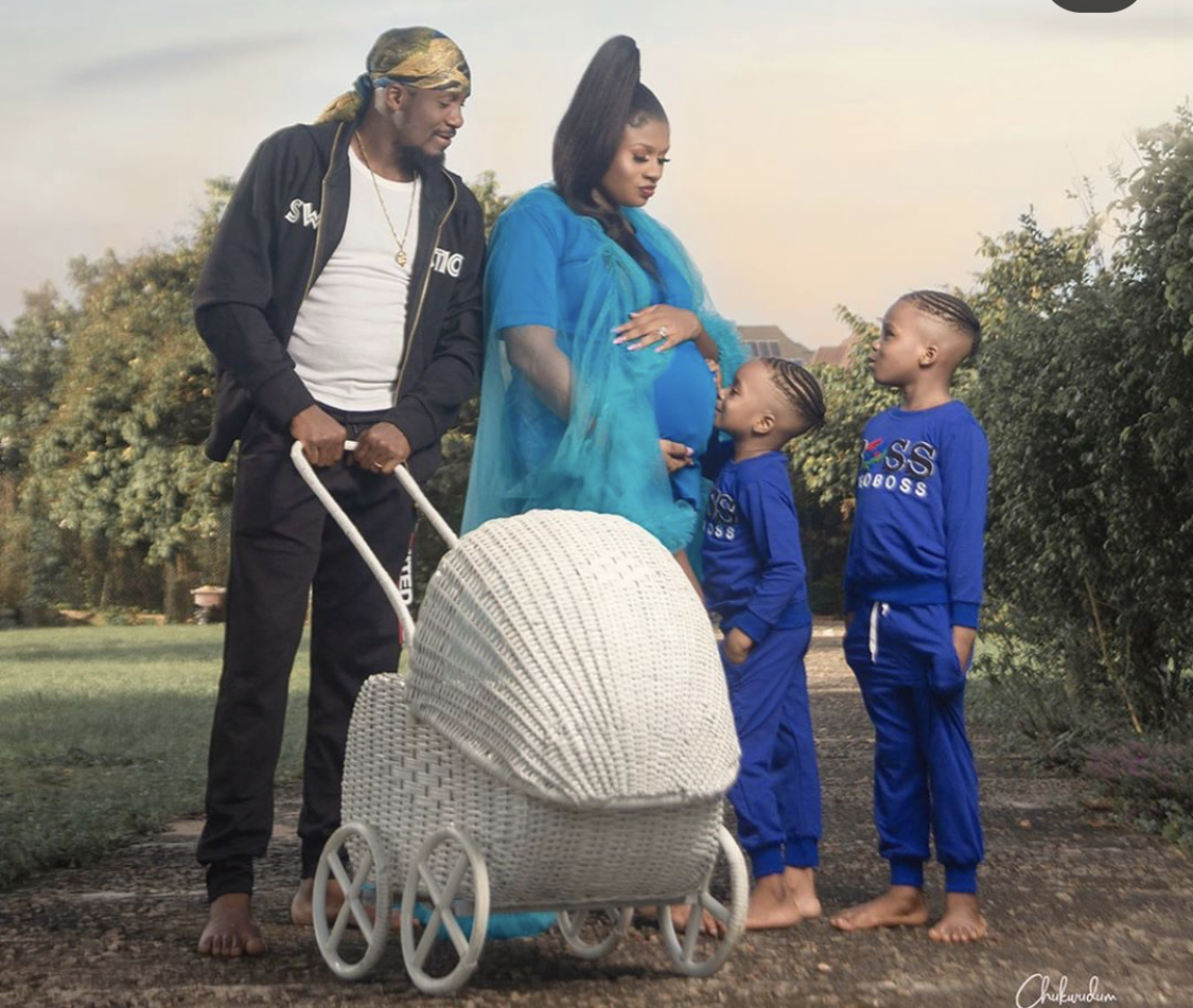 Actor Junior Pope Odonwodo and his family