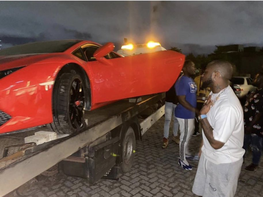 Davido and his Lamborghini