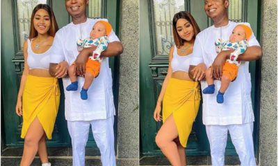 Regina Daniels Shows Off Her Husband And Son