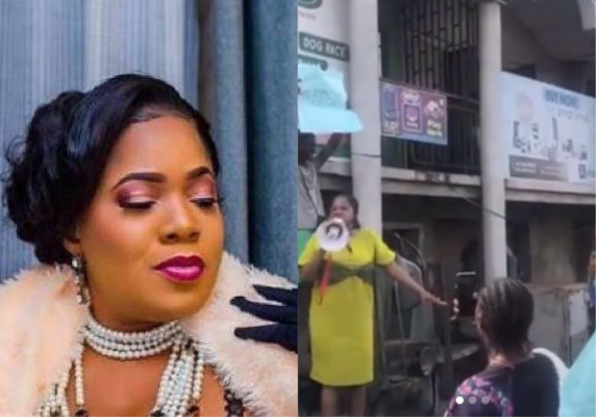 Toyin Abraham Leads #EndSARS Protest In Ibadan (Video)