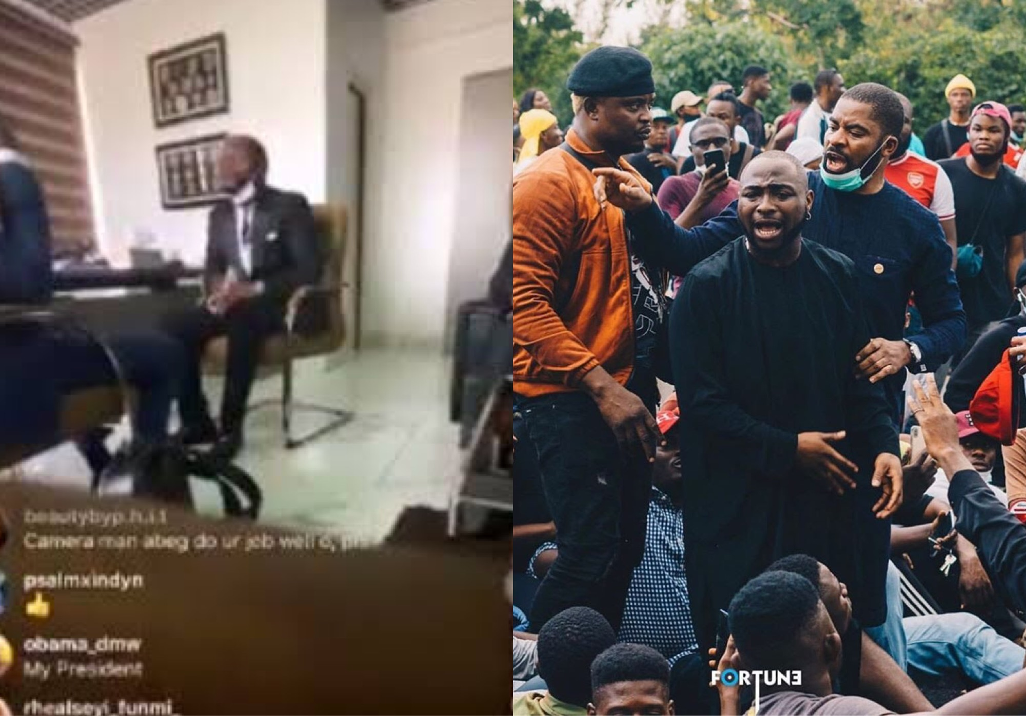 #EndSARS: Davido Denies Protesting Against Police (Video)