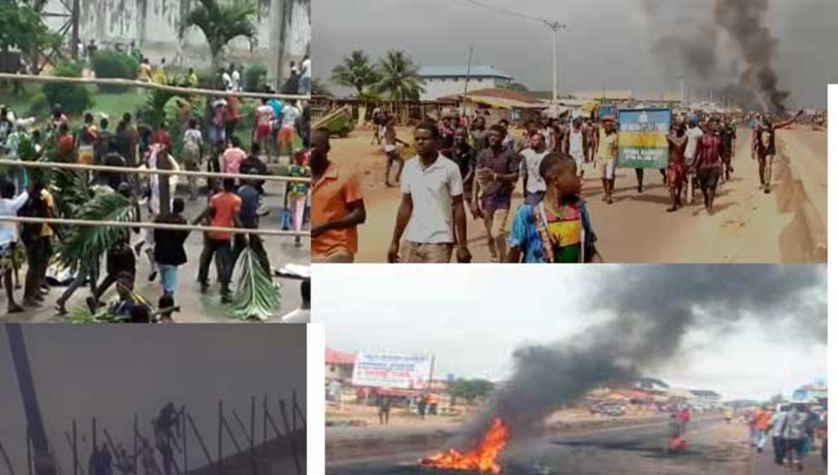 #EndSARS: Hoodlums Hijack Benin Protest, Free Prisoners