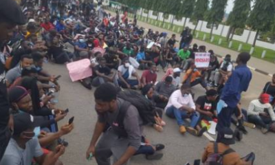BREAKING: #EndSARS Protesters Shut Alausa Secretariat