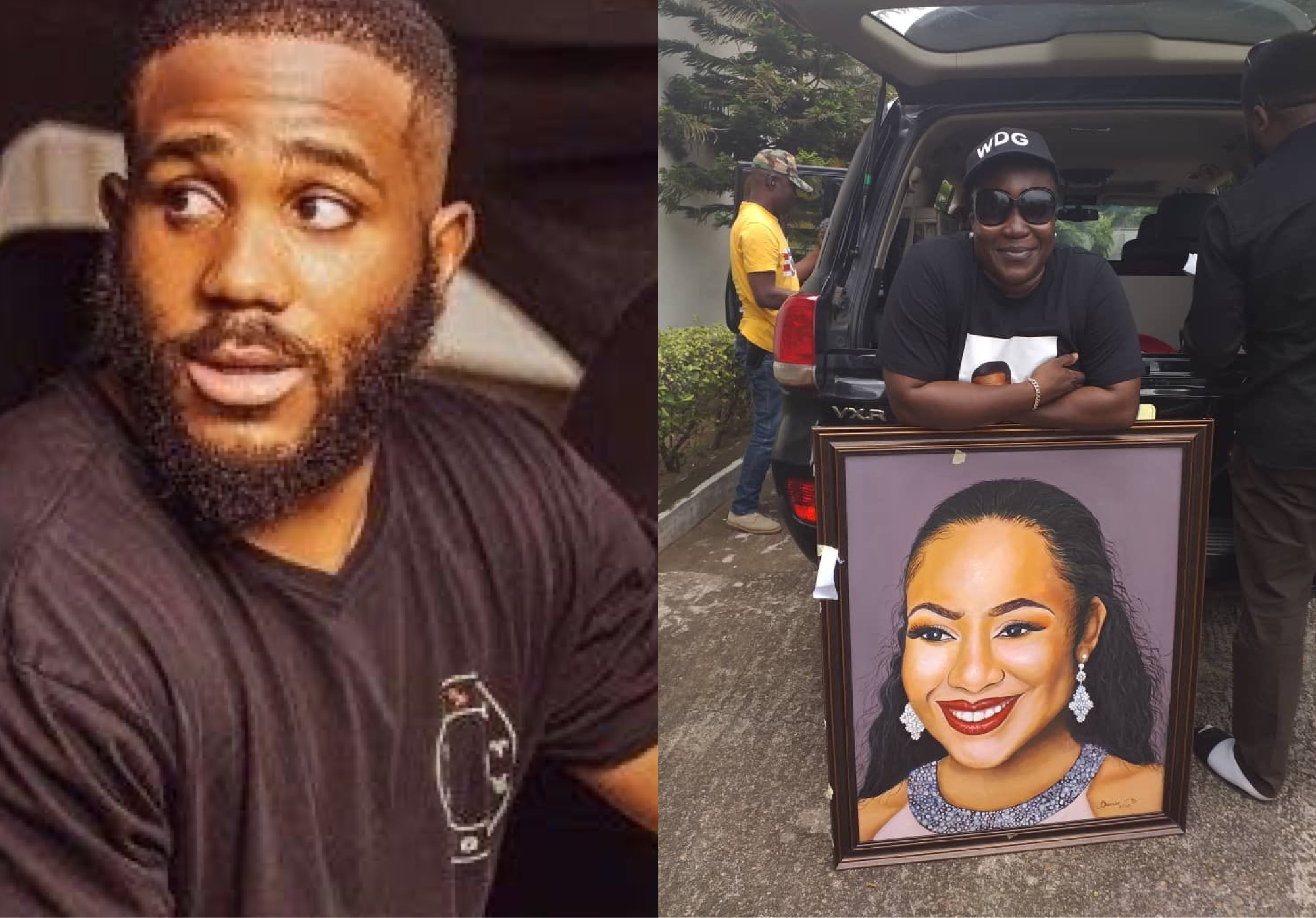 Kiddwaya Presented With Painting Of Erica During His Homecoming In Benue State