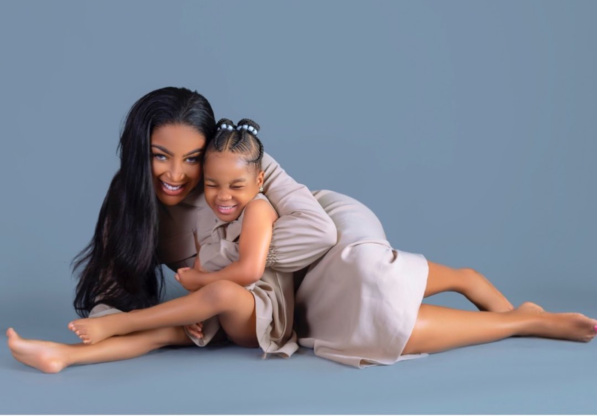 Dabota Lawson and her daughter