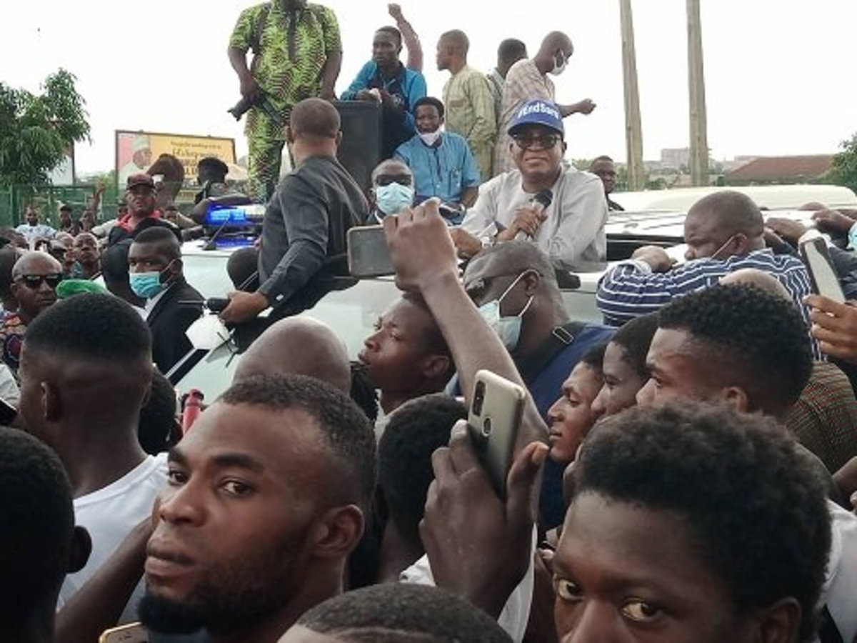 JUST IN: Oyetola Joins #EndSARS Protesters In Osun