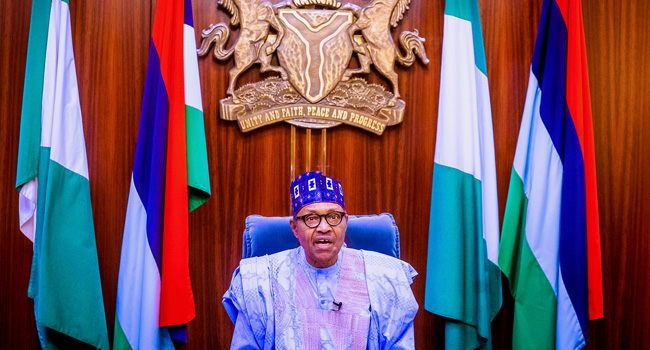 President Muhammadu Buhari addresses the nation as Nigeria marks its 60th Independence anniversary