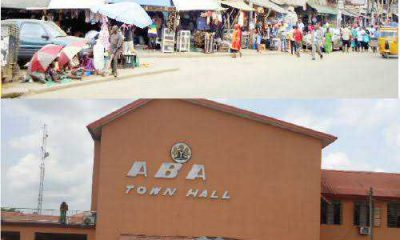 Aba Town Hall set on fire by an angry mob