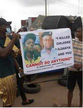 Anambra state #EndSARS protesters match to the notorious Awkuzu SARS
