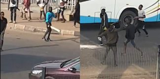 Armed thugs hijack protest in Alausa, Lagos State (VIDEO)