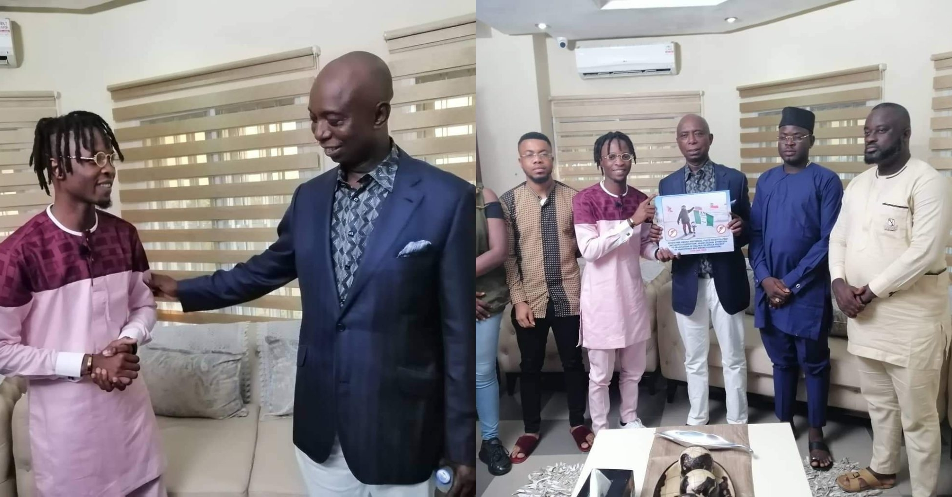 Ned Nwoko, Laycon sign partnership deal (Photos)