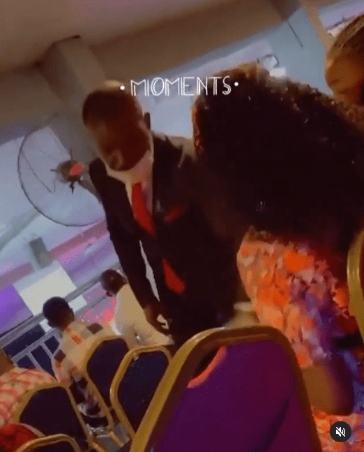 Nigerians React To Video Of Male Usher Trying To Seize Female Church Member's Phone
