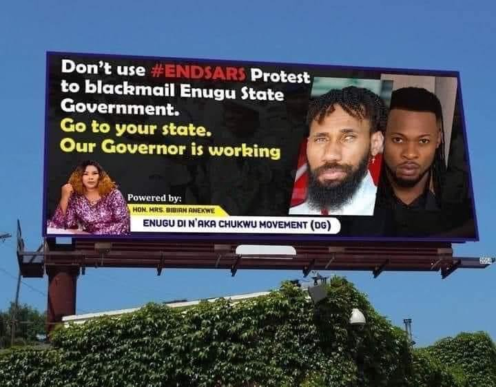 #EndSARS: Phyno and Flavour on billboard