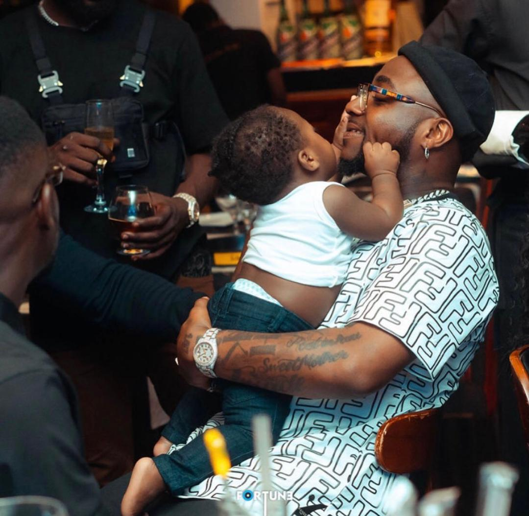 Davido and his son, ifeanyi