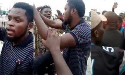 #EndSARS: Mark Angel Almost Beaten Up By Angry Protesters Who Accused Him Of Using Them For Comedy (Video)