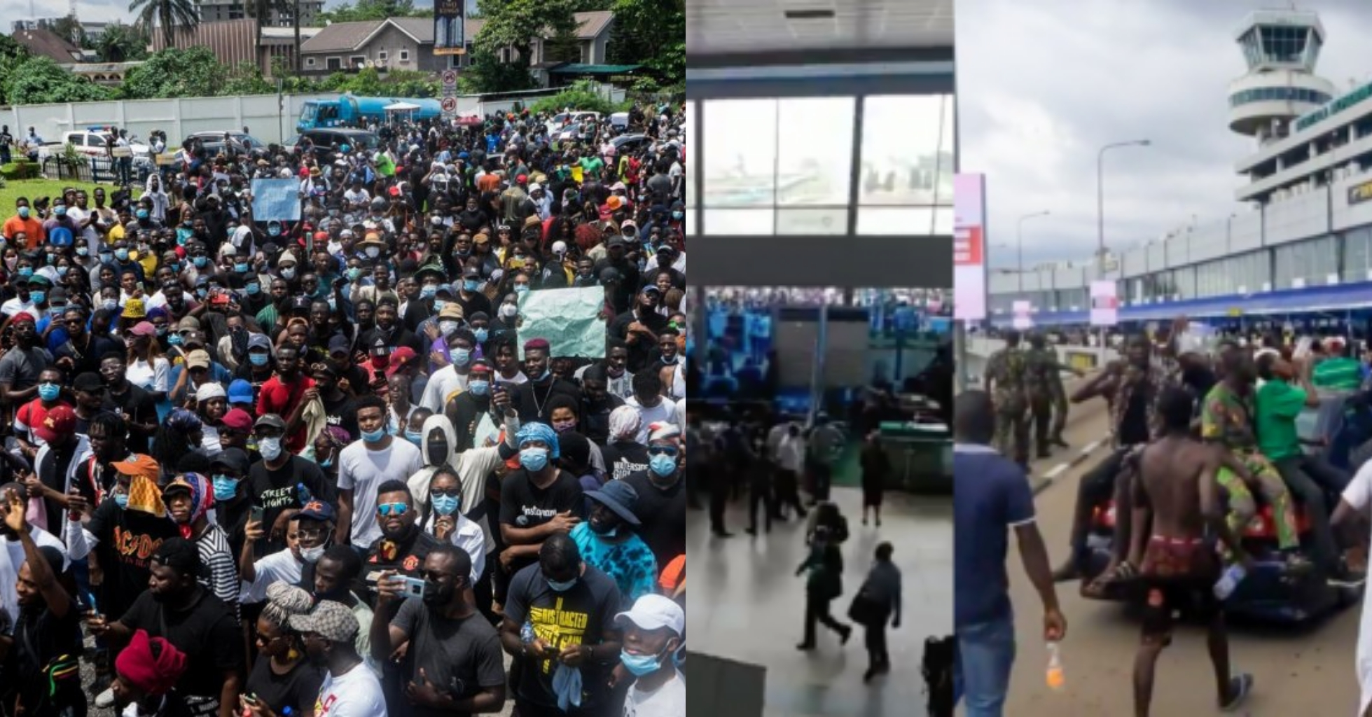 #EndSARS protesters break into Lagos International Airport (Videos)
