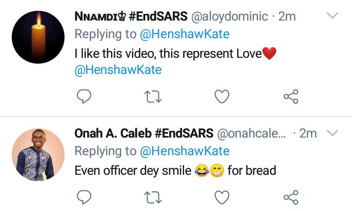 Officer Drags Bread at #EndSARS