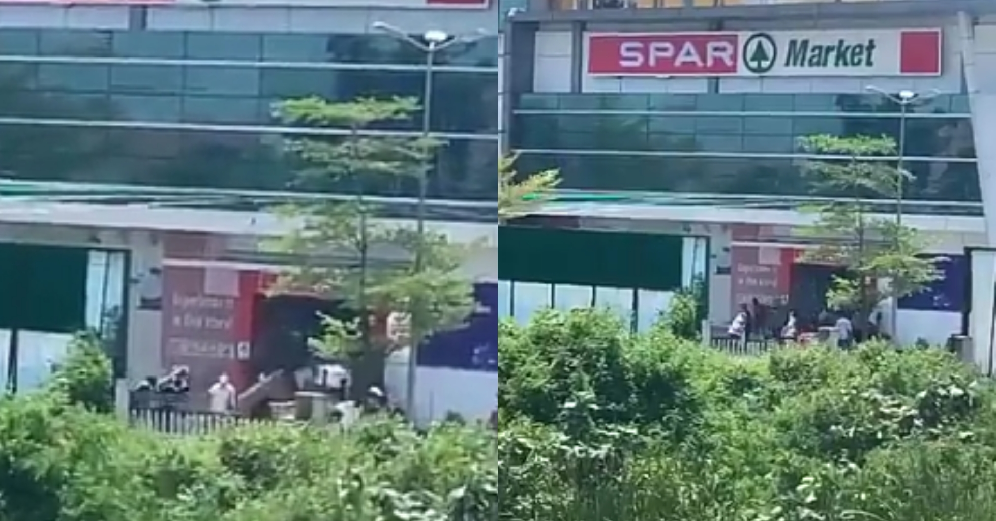 #EndSARS: Thugs allegedly loot Spar supermarket in Lekki, make out with expensive gadgets (Video)