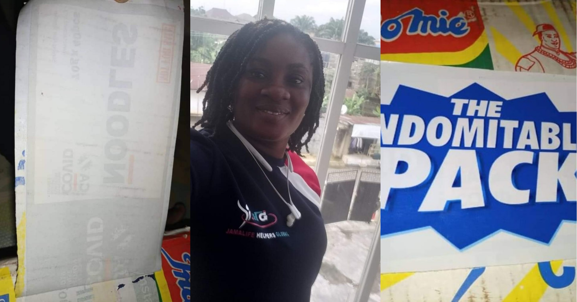 Lady buys carton of indomie with COVID-19 sticker in Akwa Ibom