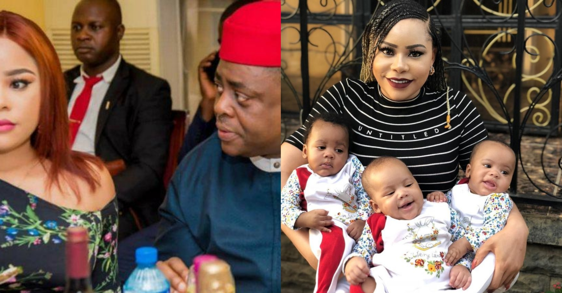 Femi Fani-Kayode and his estranged wife, Precious Chikwendu