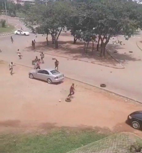 endsars protest abuja thug