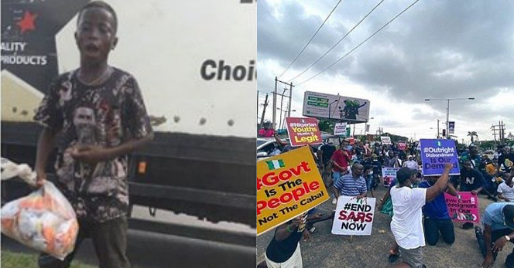 I will like to pay for his school fees till SS3, help me locate him – Man expresses desire to train young hawker who gave snacks to protesters for free