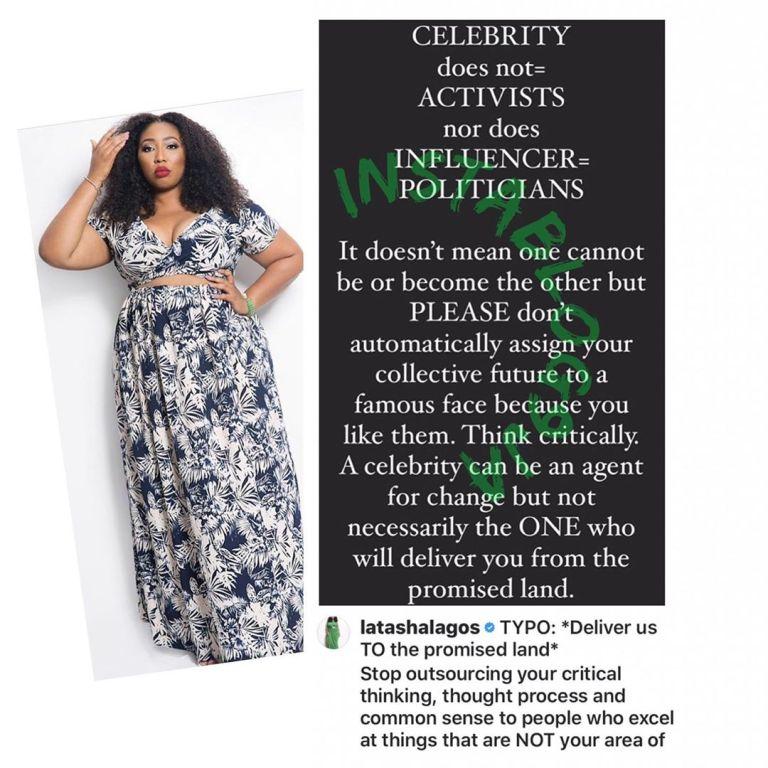 'Celebrities Are Not Activists' – TV Personality, Latasha Ngwube