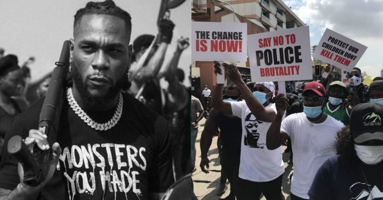 #EndSARS: Burna Boy Reacts To Shooting Of Protesters At