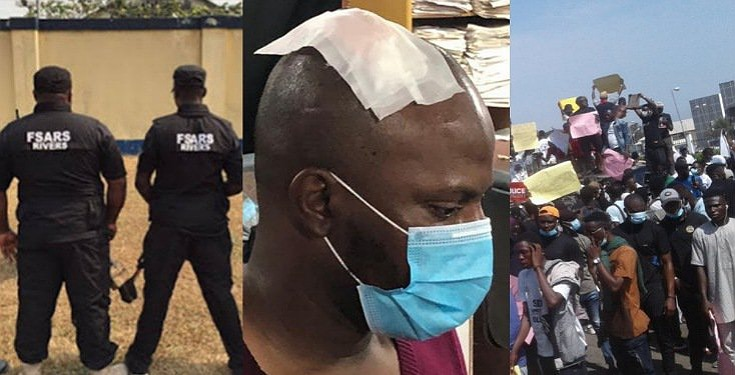 Journalist brutalized by Police while covering and interviewing #EndSARS protesters (Video)