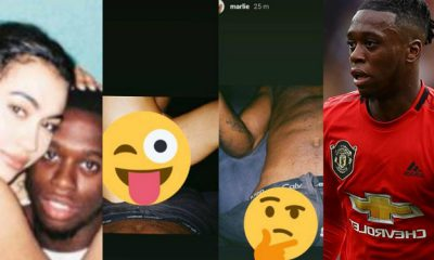 Manchester United Star Aaron Wan-Bissaka In Trouble As Side Chic Leaks Their After Sex Photos Ahead Of His Wife's Delivery (Photos)