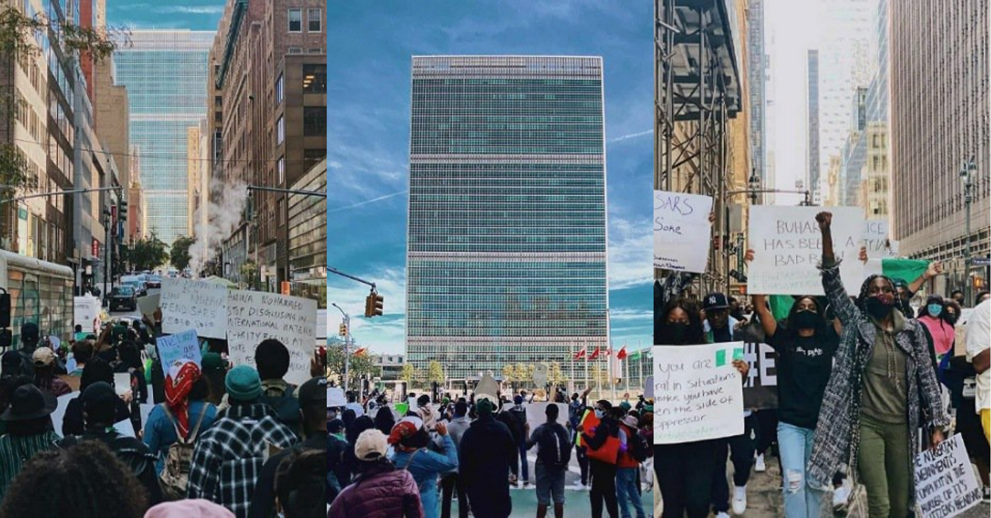 Nigerians In US Stage #EndSARS Protest In New York (Photos/Video)