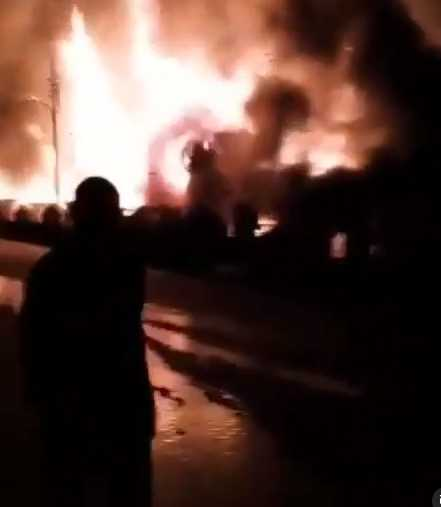 Post Office, Mall, others allegedly burnt down after thugs hijacked #EndSARS protest in Osogbo