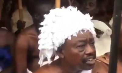 Ifa priests hold ritual rites to welcome Oba of Lagos, his staff of office to the palace