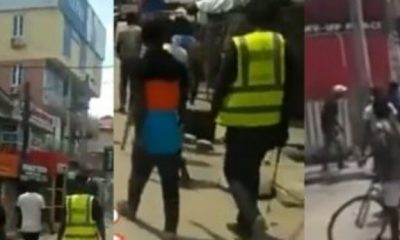 Security operatives attack hoodlums who tried to break into Lagos computer village, (Video)