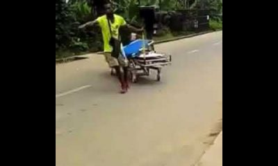 Man leaves psychiatric hospital with stolen bed in Calabar (Video)