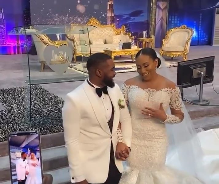 Williams Uchemba and his wife, Brunella Oscar