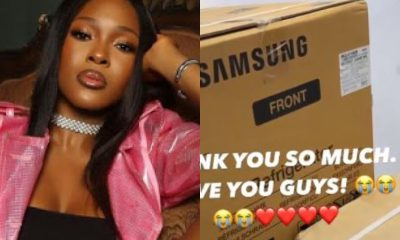 BBNaija's Vee Receives Household Electronics From Her Fans