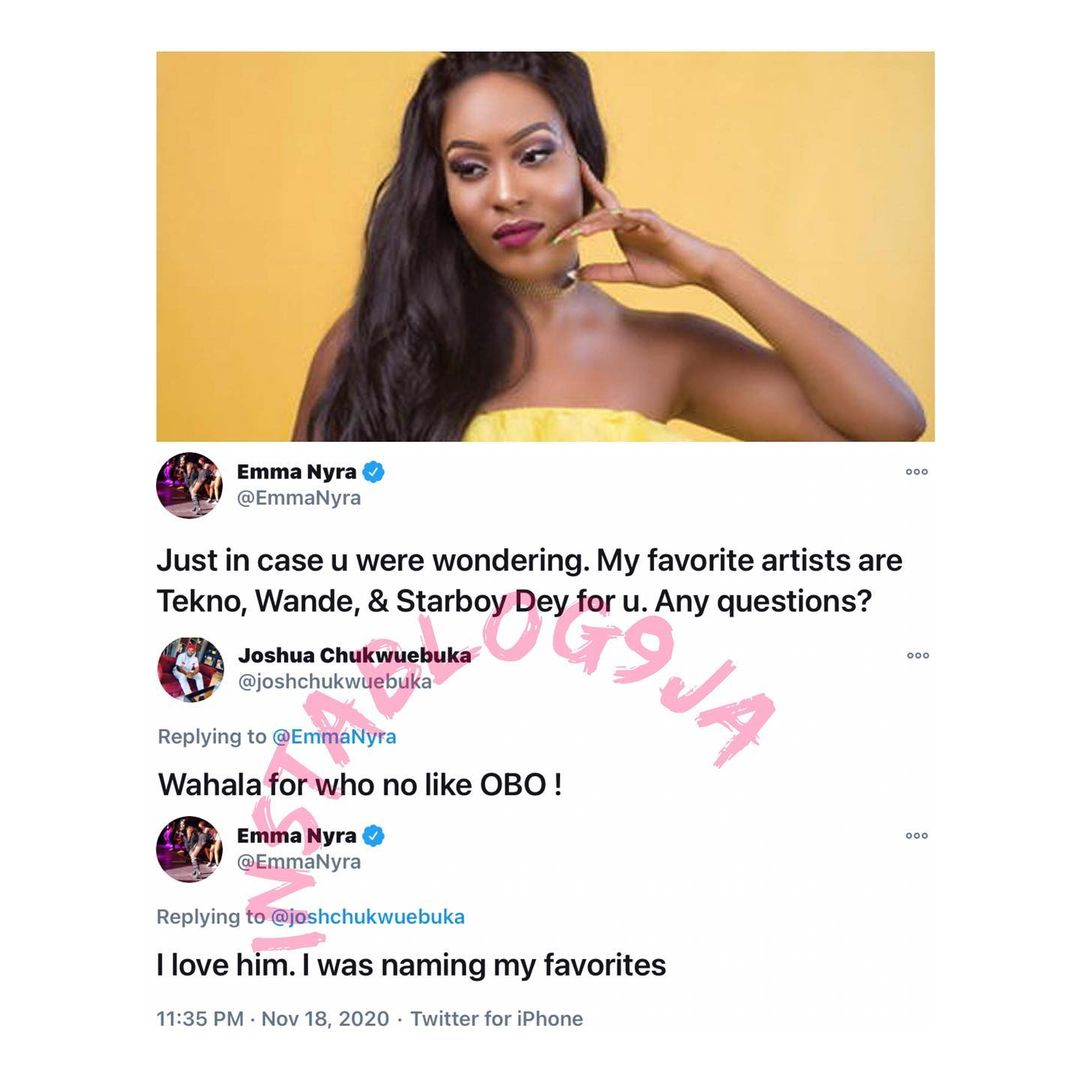 The exchange between the singer and a fan of Davido