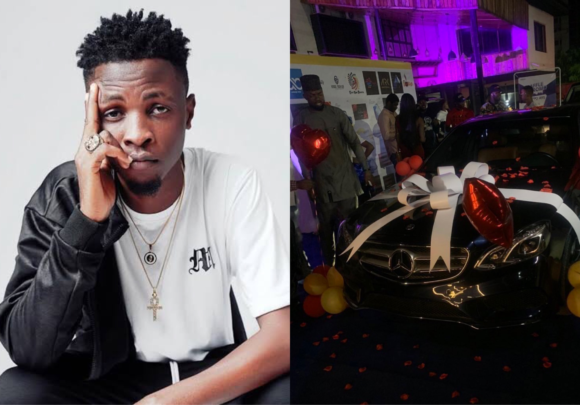 Fans Gift BBNaija's Laycon A Mercedes Benz And Studio For His Birthday