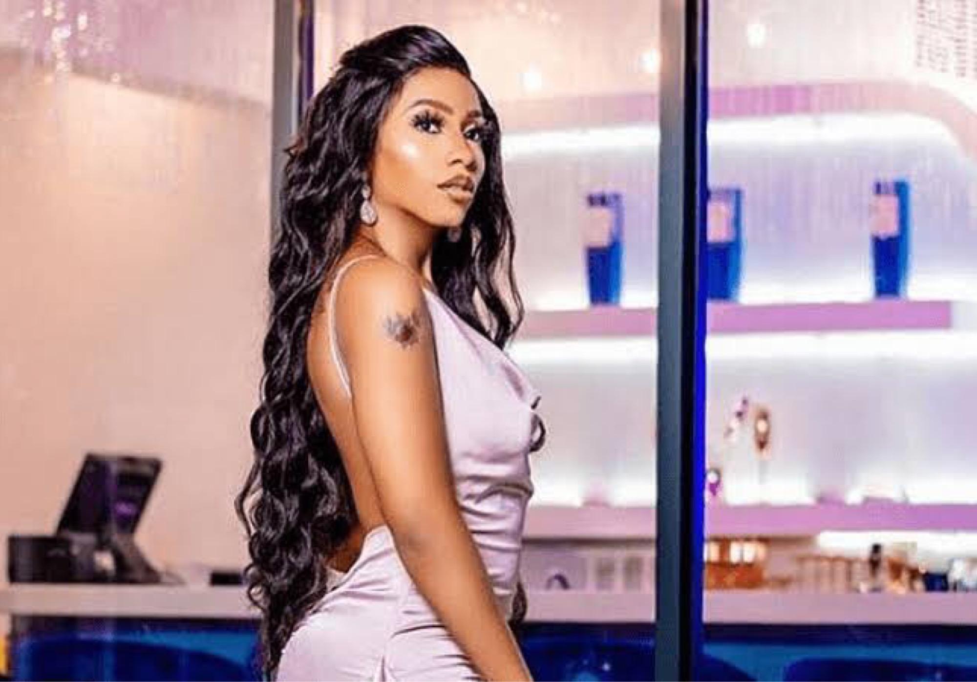 BBNaija's Mercy Eke Suffers Wardrobe Malfunction In Dubai