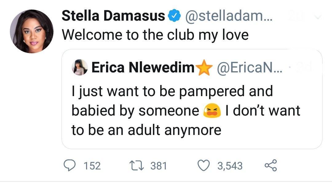 The actress' tweet