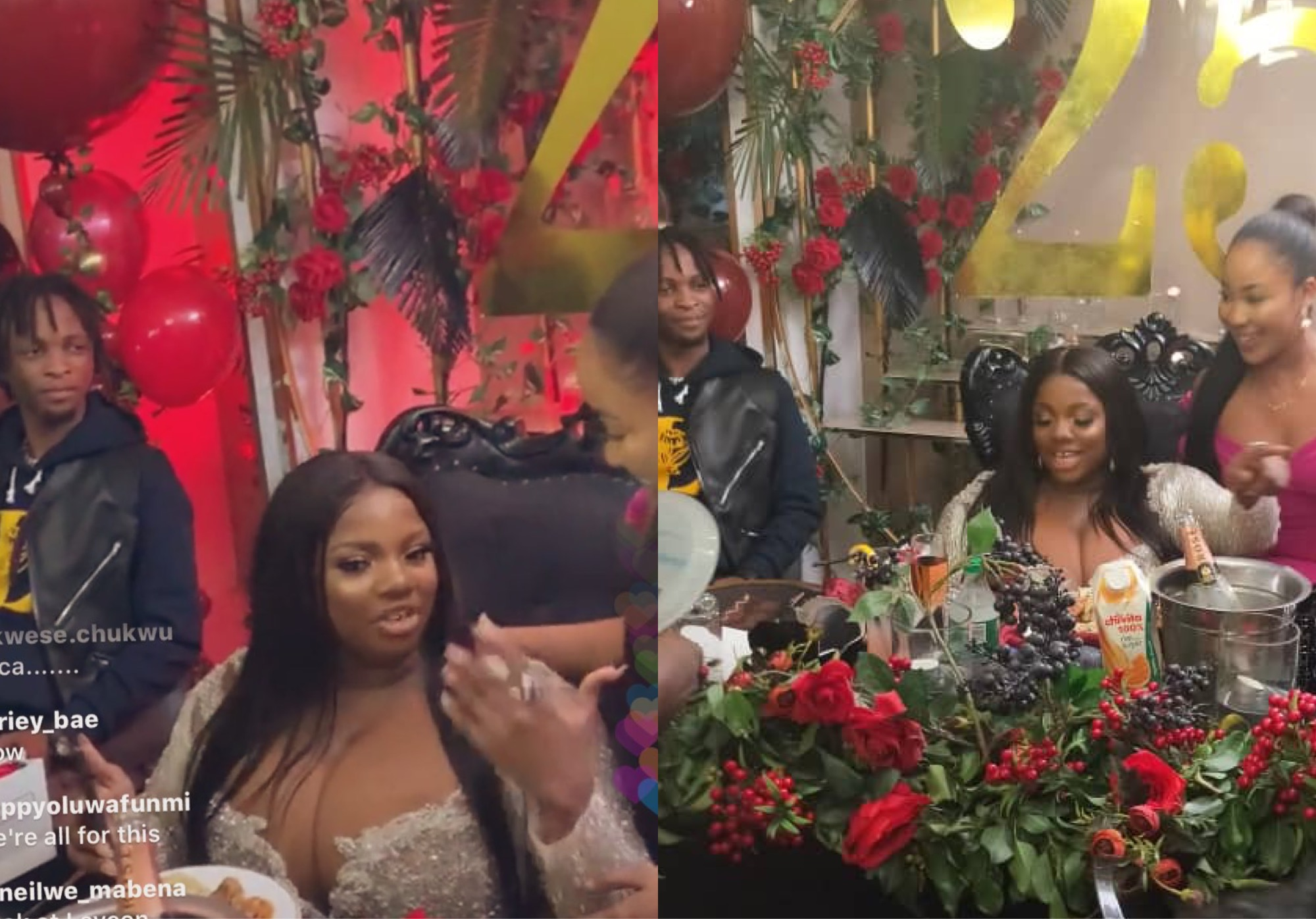 Laycon Stares At Erica After She Showed Up At Dorathy's Birthday Bash (Video)