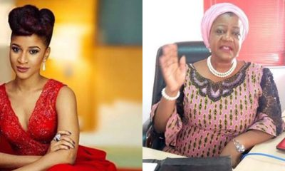 'You Are A Disgrace' - Actress Adesua Etomi Knocks Lauretta Onochie Over Her Tweet