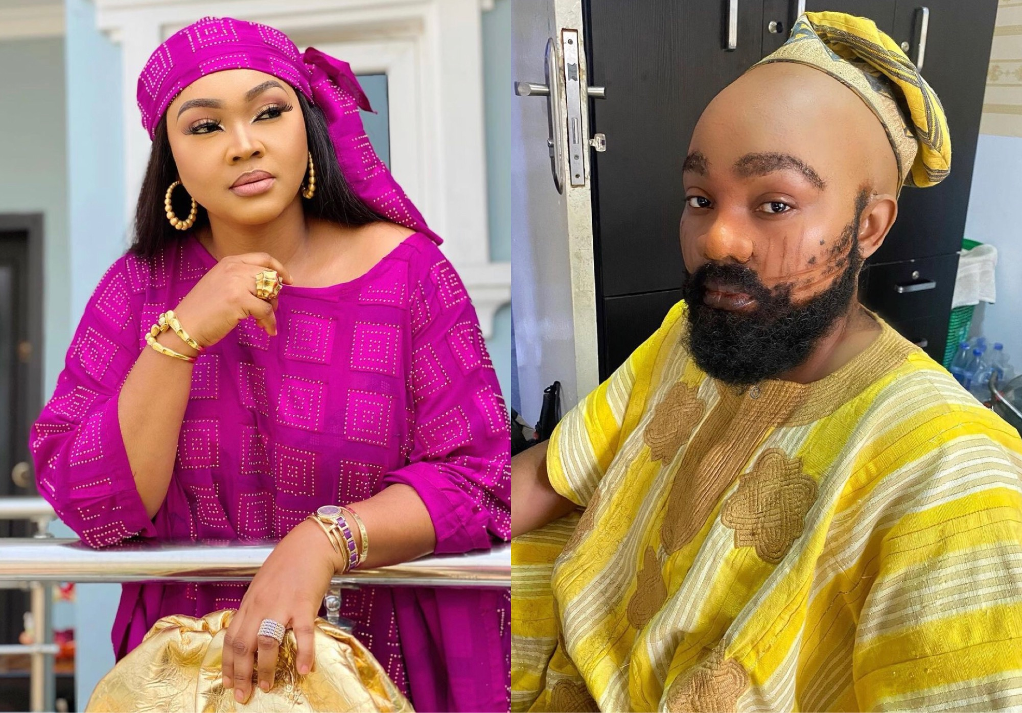 Actress Mercy Aigbe Goes Bald For New Movie; Rocks Tribal Marks