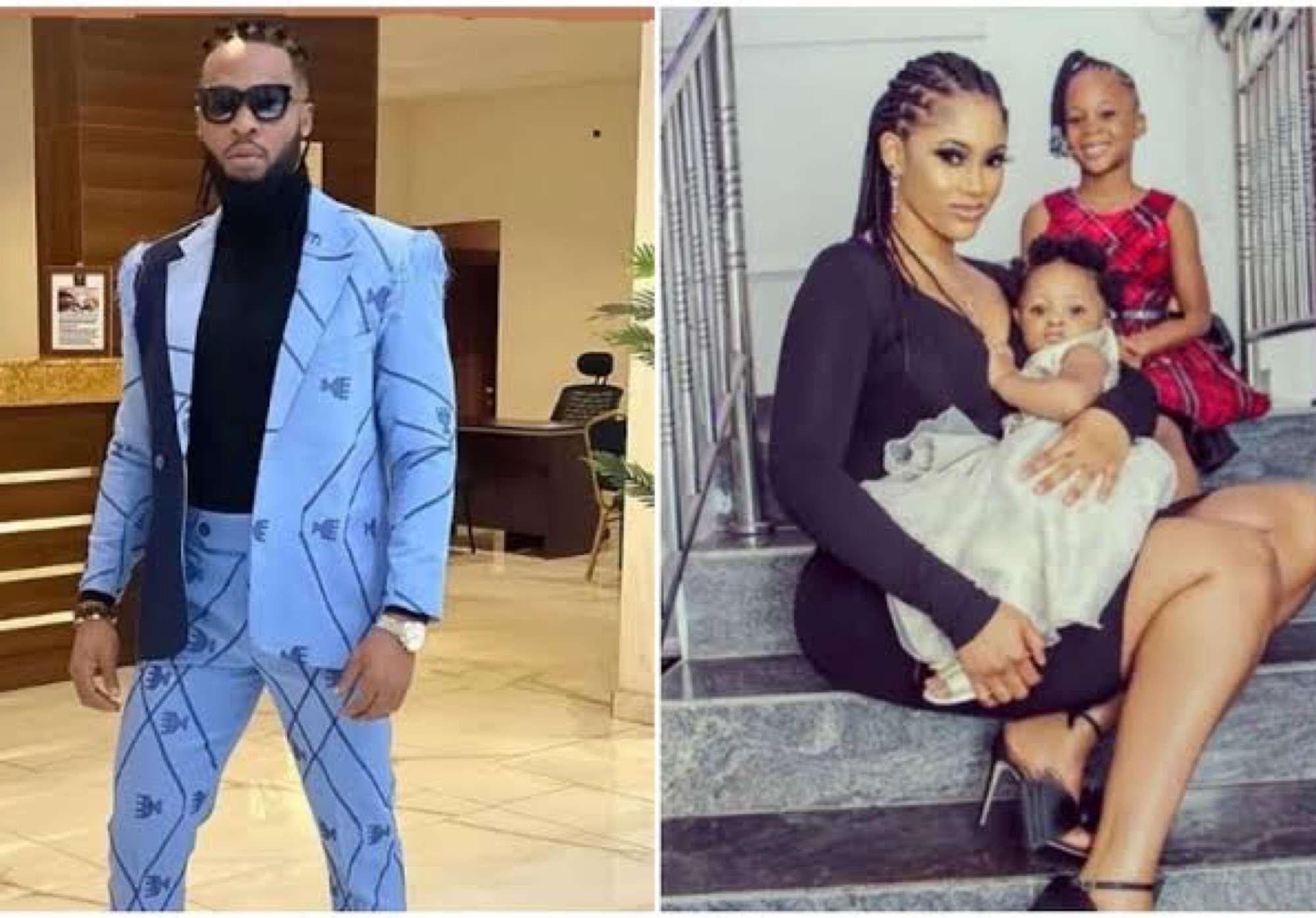 Flavor's Babymama, Sandra Okagbue Celebrates Him And Their Second Daughter As They Both Turn A Year Older